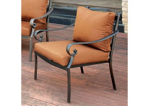 Bonquesha Distressed Black Aluminum Patio Chair