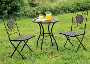 Betim Black 3 Piece Table Set
