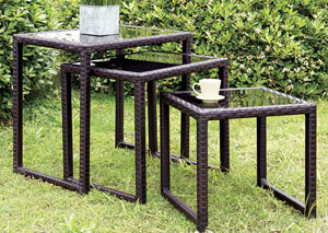 Rocio Espresso Nesting Side Tables