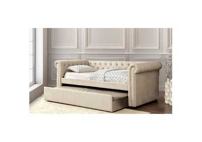 Leanna Beige Daybed w/Trundle