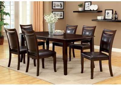 Woodside Dark Cherry Extension Leaf Dining Table w/6 Side Chairs