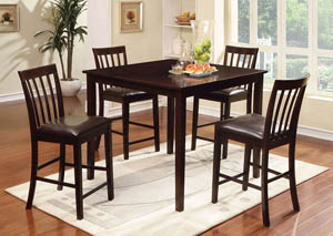 Wrangler ll Espresso Counter Height Table Set