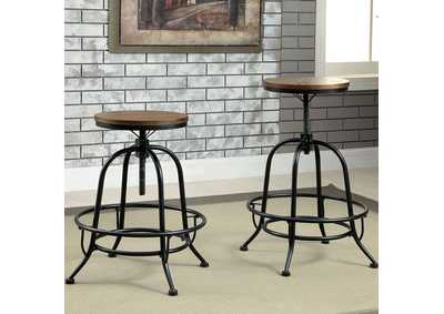 Silvia Medium Oak Counter Height Stool (Set of 2)