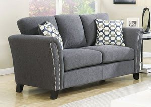 Campbell Gray Loveseat w/Accent Pillows