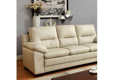 252828 Parma Ivory Polyurethane Sofa