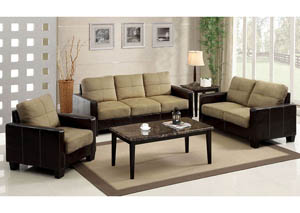 Laverne Tan Sofa and Loveseat