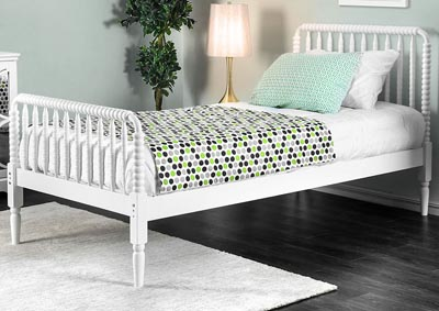 Jenny White Twin Bed