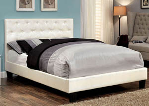 Kodell White Upholstered California King Bed