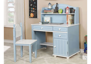 Deana Blue/White Desk