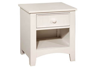 Omnus White Nightstand