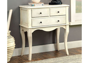 Sian Antique White Hallway Cabinet,Furniture of America