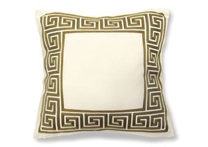 Sade Gold Fret Frame Pillow, 20 x 20' (8/Ctn)