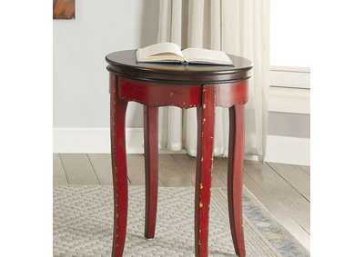 Molly Red Round Side Table