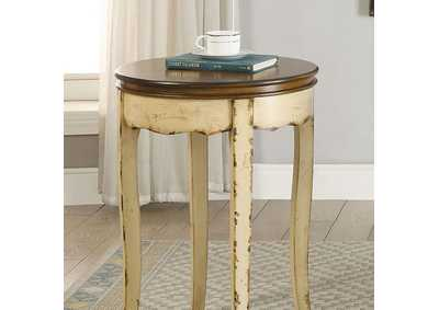 Molly White Round Side Table