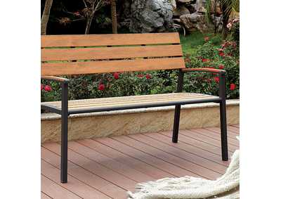 Isha Oak Outdoor Bench