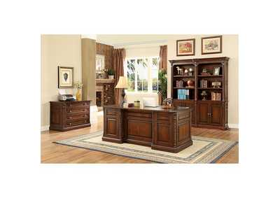 Vicki Dark Oak Book Shelf Buffet w/Hutch