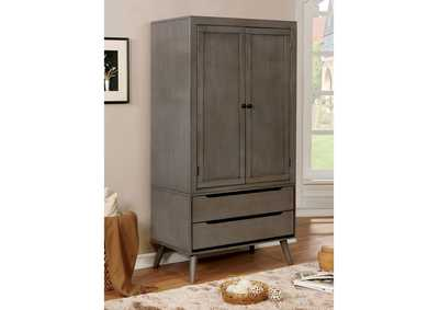 Lennart Gray Armoire,Furniture of America