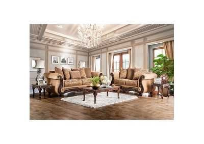 Nicanor Gold Sofa and Loveseat