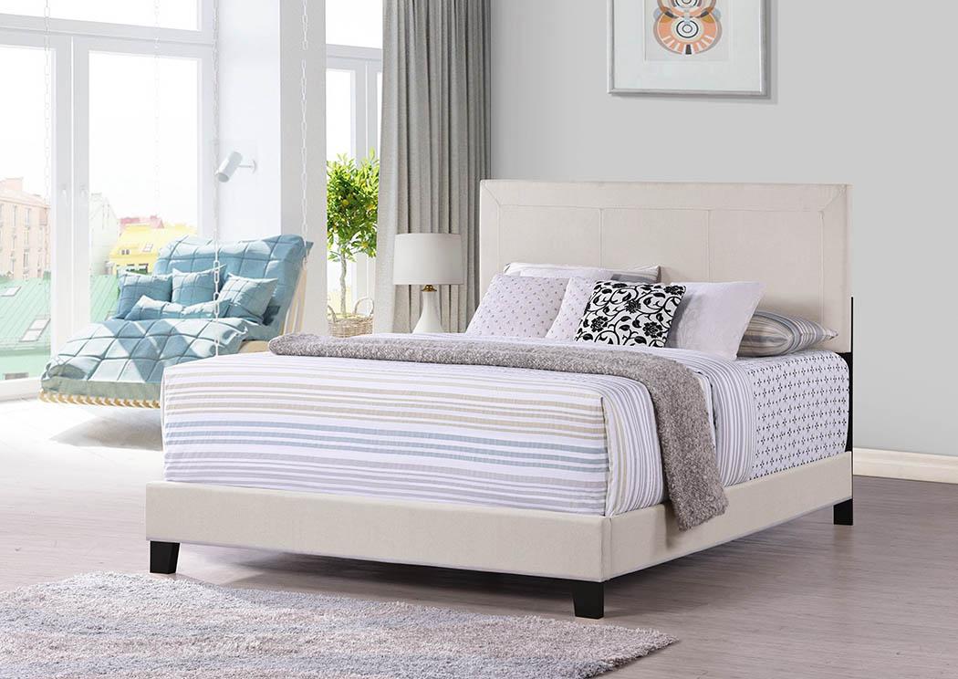 Cream Upholstered King Headboard,Furniture World Distributors