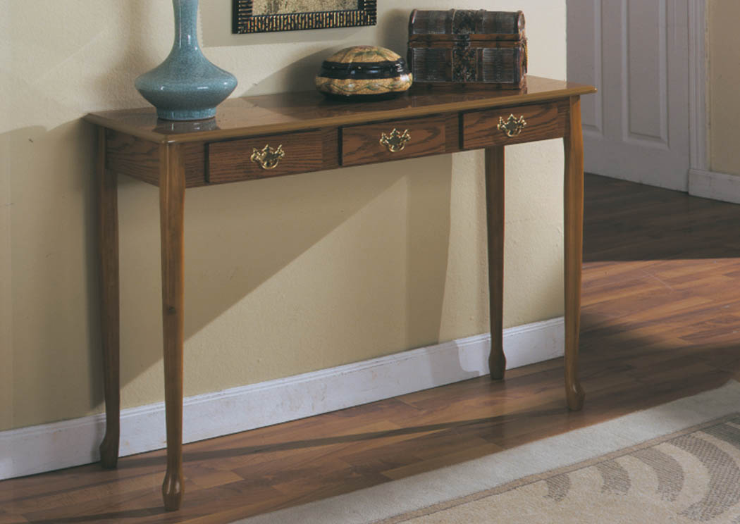 Oak Queen Anne Sofa Table ,Global Trading