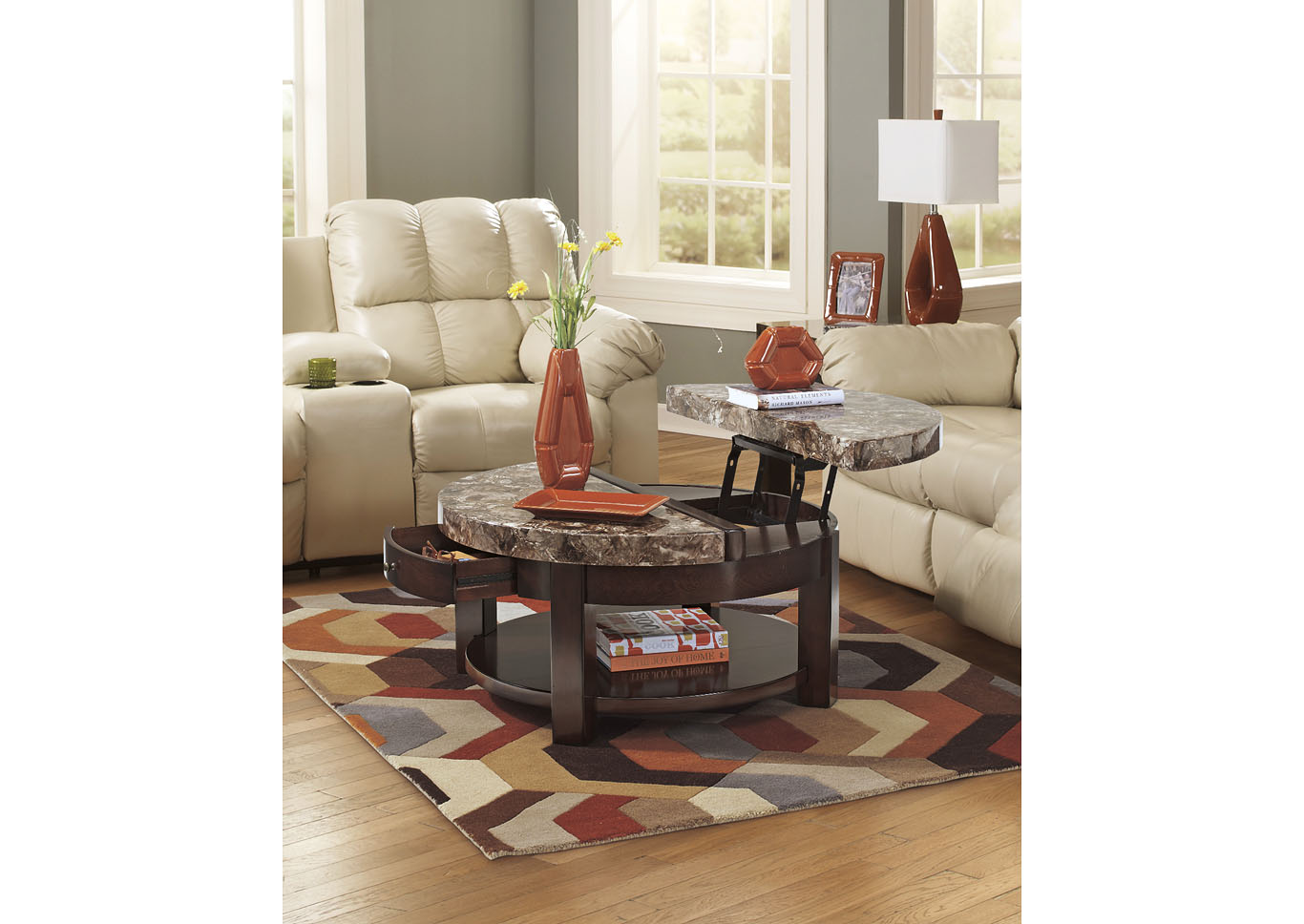 Roses Flooring And Furniture Round Coffee Table