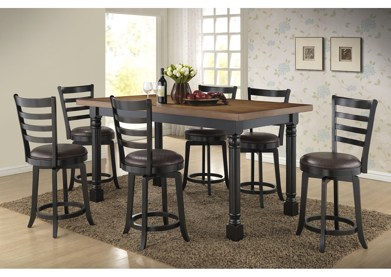 Roses Flooring And Furniture 5pcs Highbury Pub Set