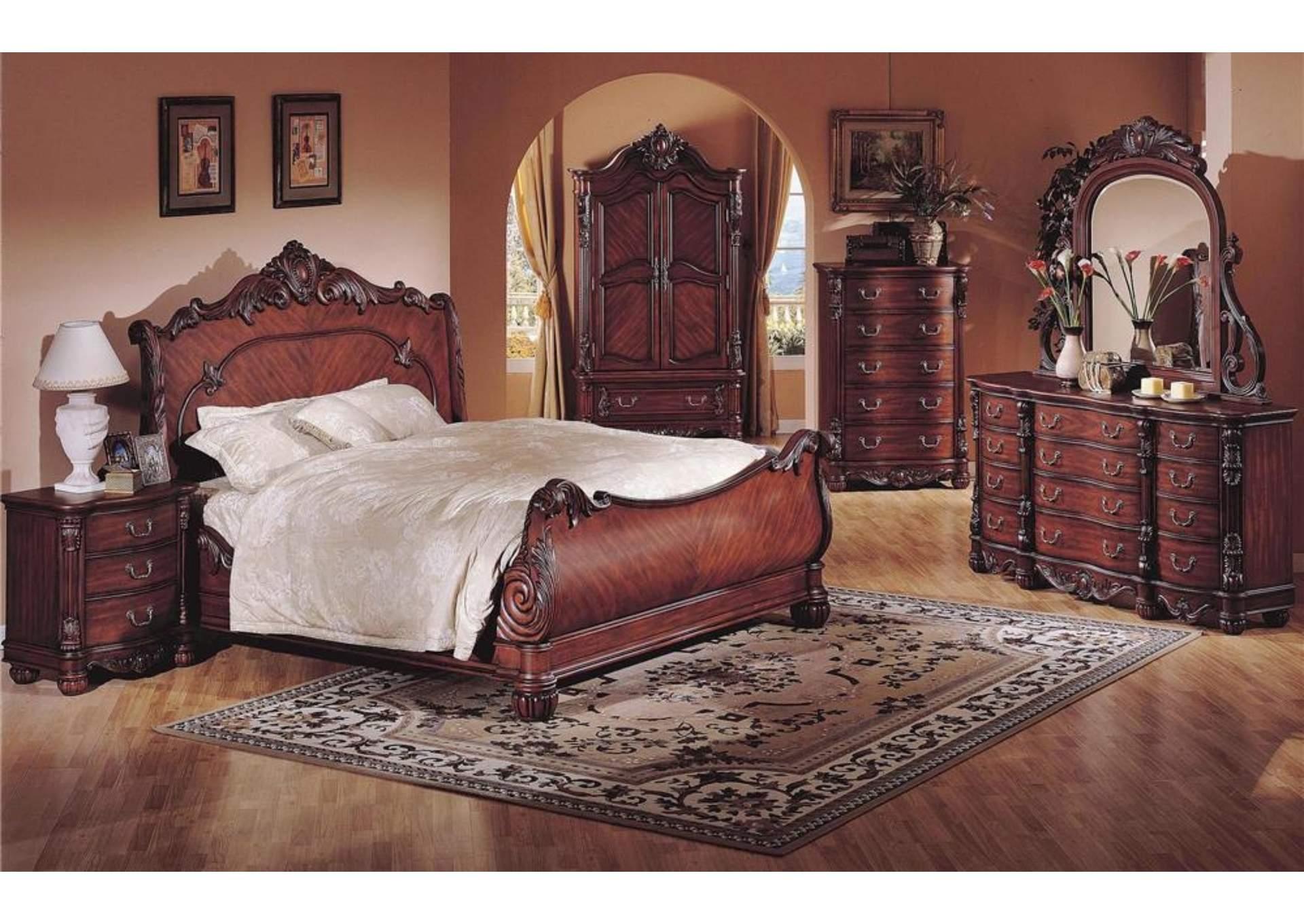 Big Al 39 S Furniture Queens Tv Armoire In Rich Cherry