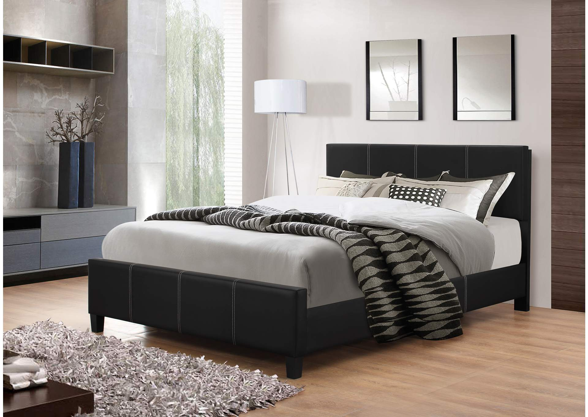 Shoppers World Flooring Furniture Black Twin Bed