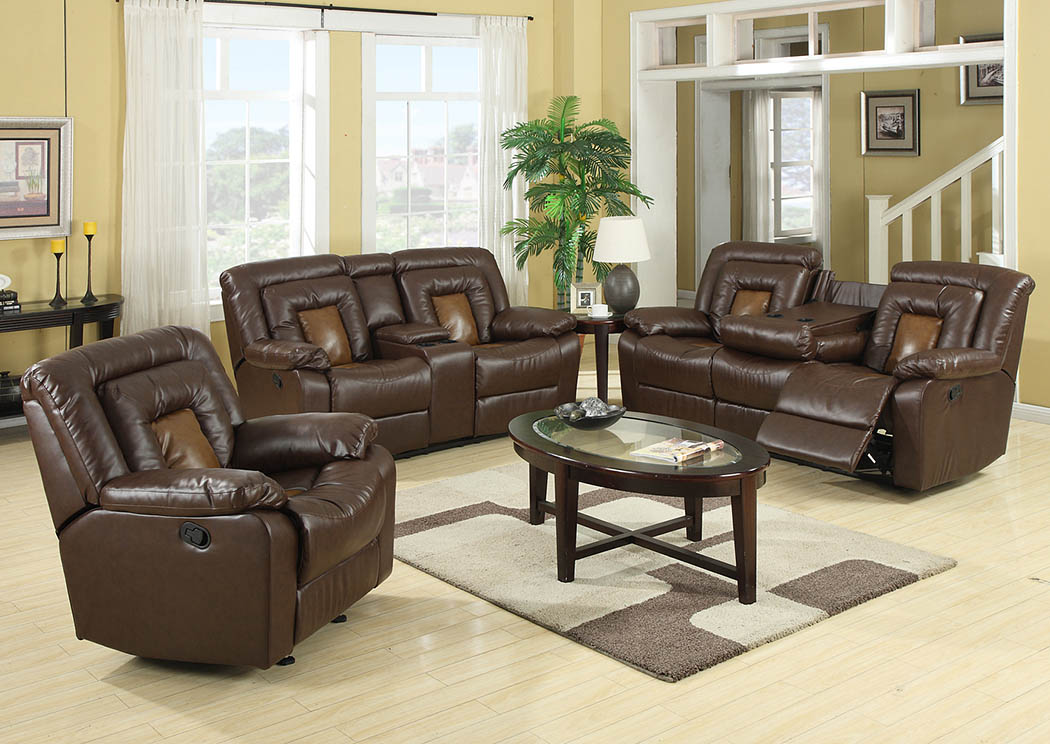 Roses Flooring And Furniture Cobra Brown Reclining Sofa Loveseat Recliner