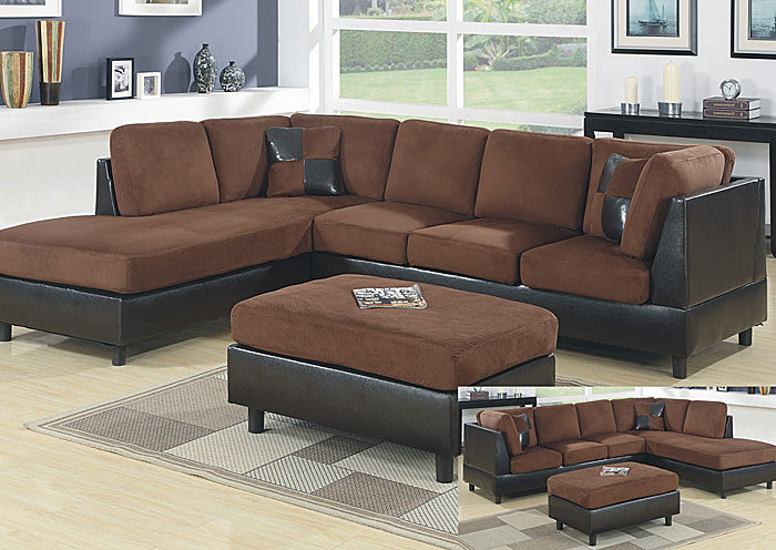 Roses Flooring And Furniture Chocolate Mocha Sectional