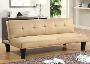 dark brown microfiber clickclack futon sofa