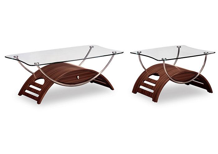 Mahogany U0026 Glass Coffee Table,Global Furniture USA