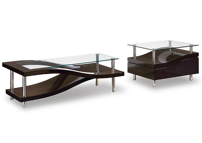 Cohen 39 S Furniture New Castle DE Wenge Glass End Table