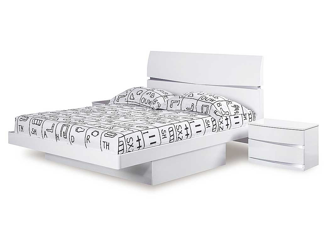 Aurora White King Bed,Global Furniture USA