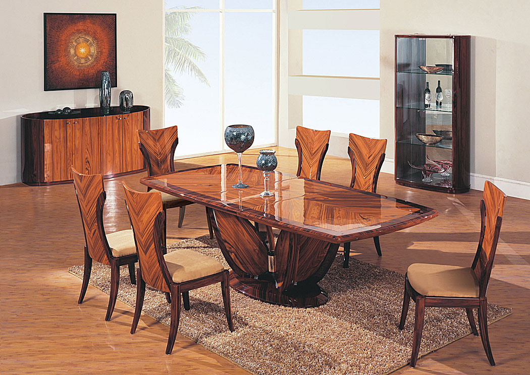 Contemporary Dining Table & 4 Chairs,Global Furniture USA
