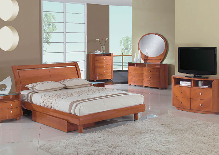 Emily Cherry King Bed,Global Furniture USA