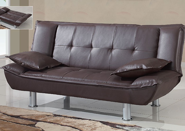 galaly furniture brown faux leather sofabed