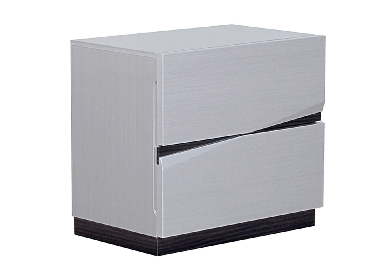 Overstock Furniture   Langley Park, Catonsville, Alexandria U0026 Lanham  Scarlett Silverline/Zebra Grey Nightstand