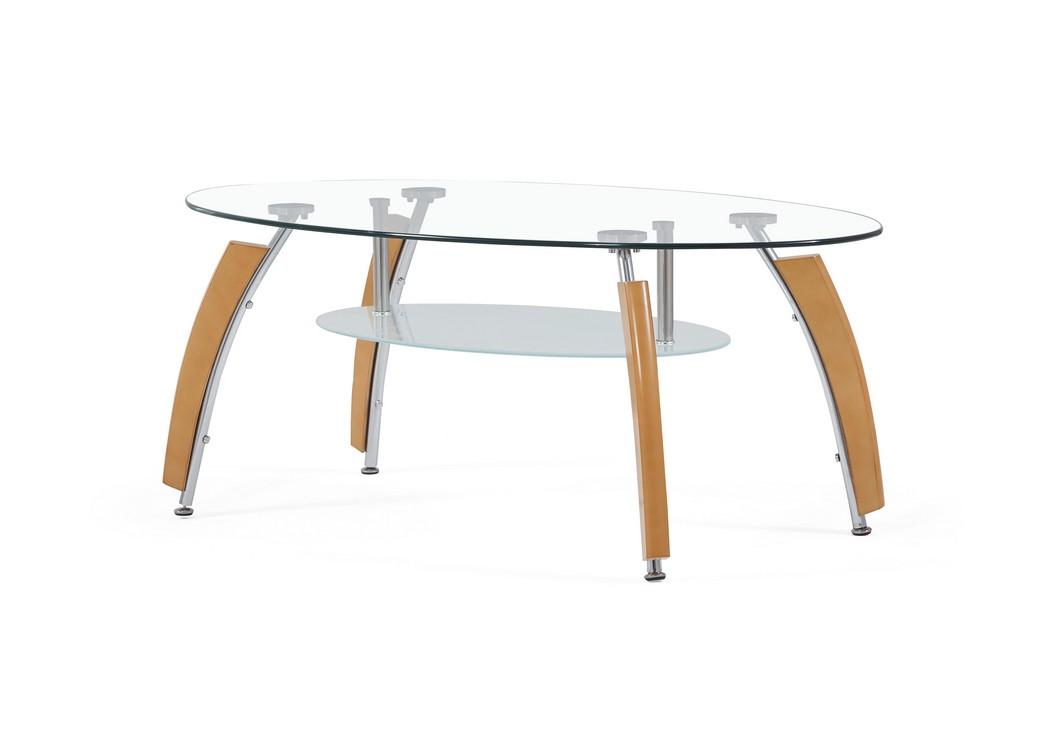 Living Room. Beech Coffee Table,Global Furniture USA