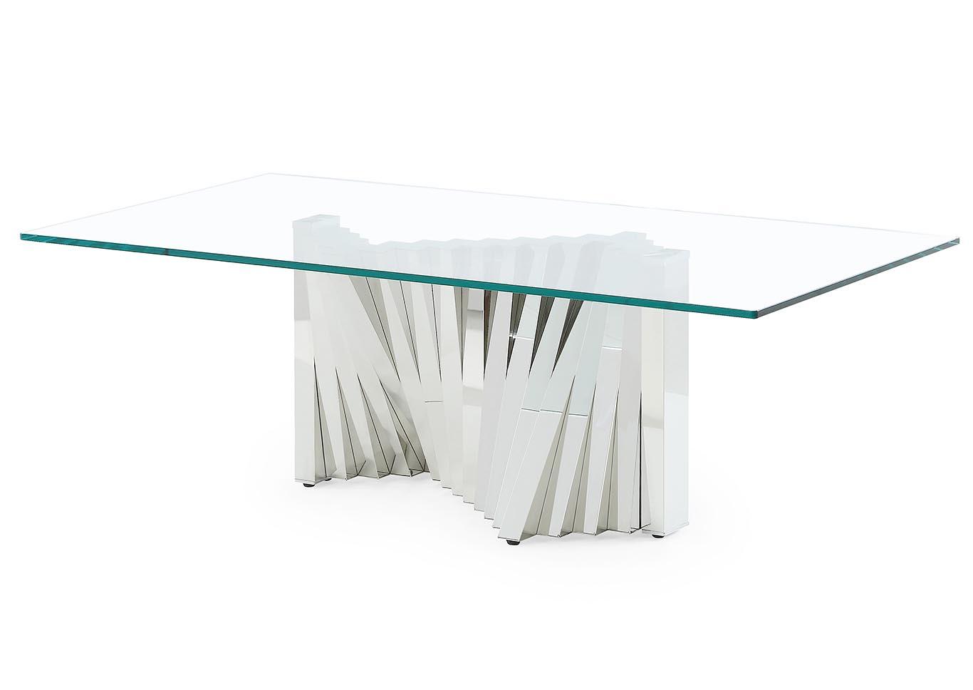 Orbit Furniture NY Clear Glass Coffee Table - Orbit coffee table