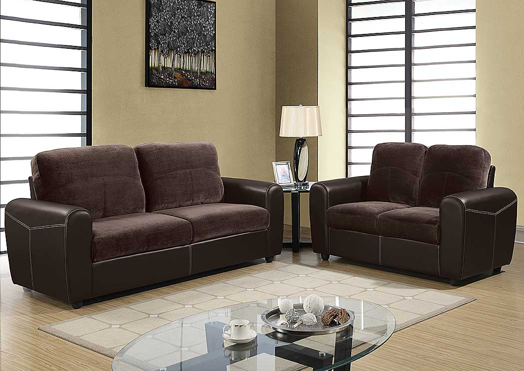 Champion Chocolate Brown Sofa U0026 Loveseat,Global Furniture USA