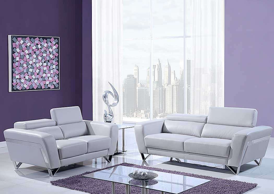 natalie light gray sofa u0026 loveseat wheadrest furniture usa