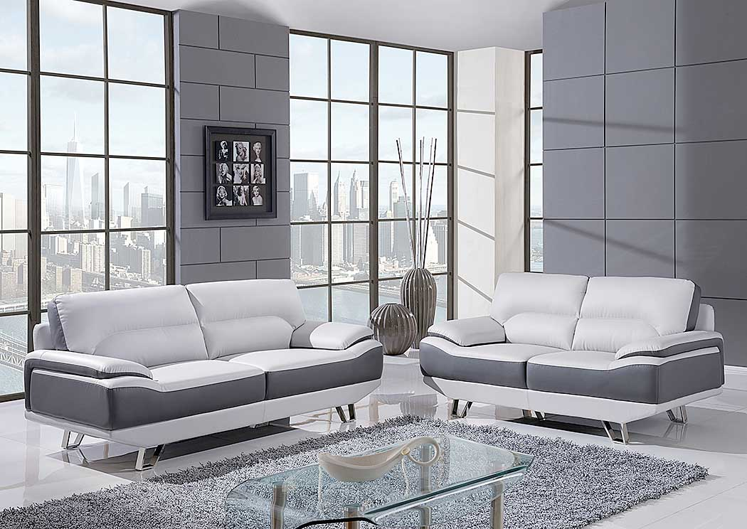Natalie Light Gray Sofa, Loveseat & Chair,Global Furniture USA