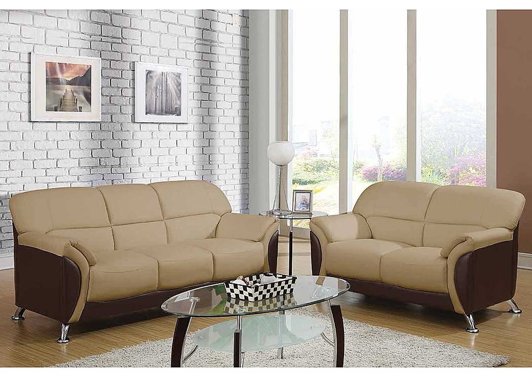 Brothers Fine Furniture Cappuccino Chocolate Sofa Loveseat Chair