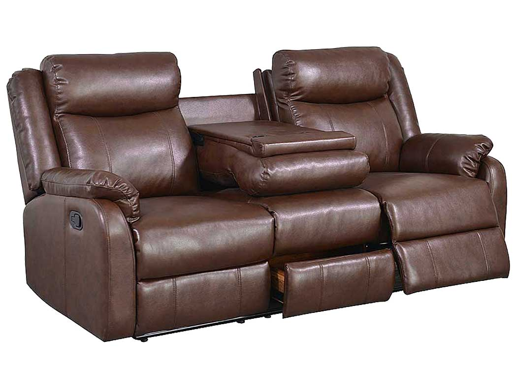 Best Buy Furniture and Mattress Brown Reclining Sofa w ...