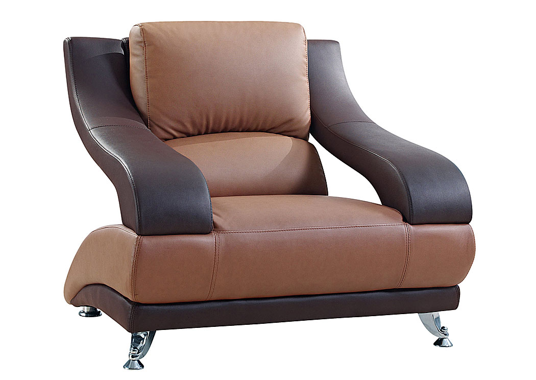 Brown Leather Chair,Global Furniture USA