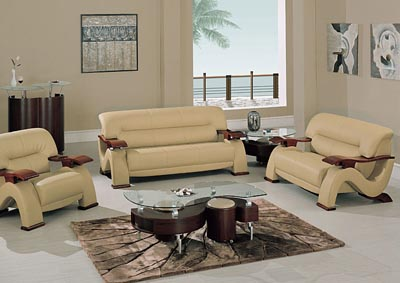 Cappucino Bonded Leather Sofa U0026 Loveseat