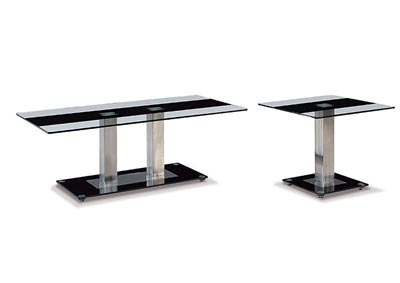 Black Stripe Coffee Table