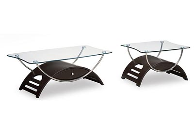 Wenge & Glass Coffee Table,Global Furniture USA