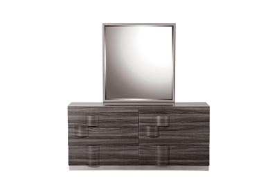 Adel Zebra Wood/Grey Mirror